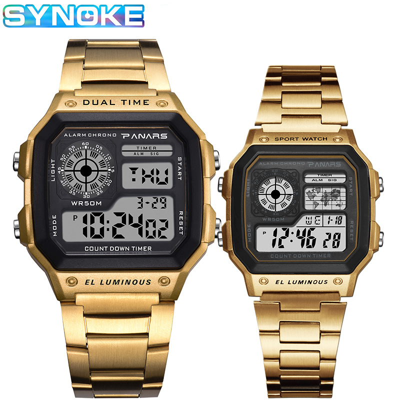 SYNOKE Fashion Men Digital Watches Waterproof Luminous Alarm Clock Women Business Electronic Watch Relogio Feminino