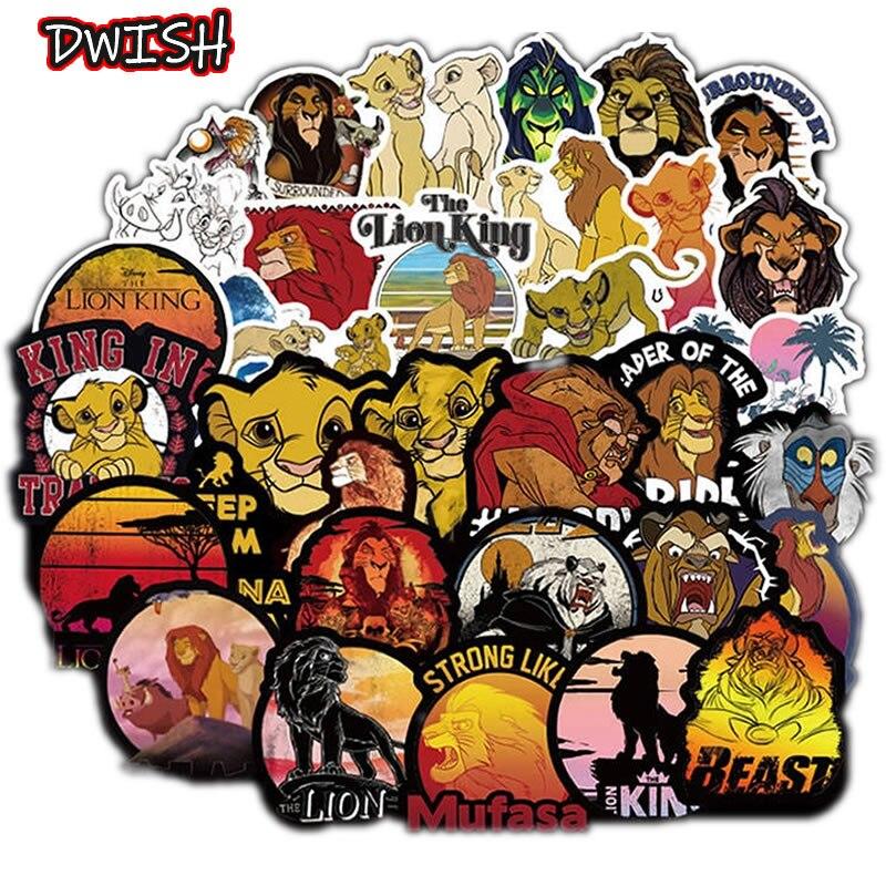 50pcs/Pack Waterproof PVC Animals Lion Graffiti Stickers Skateboard Guitar Suitcase Freezer Girls Funny Sticker Kids Classic Toy