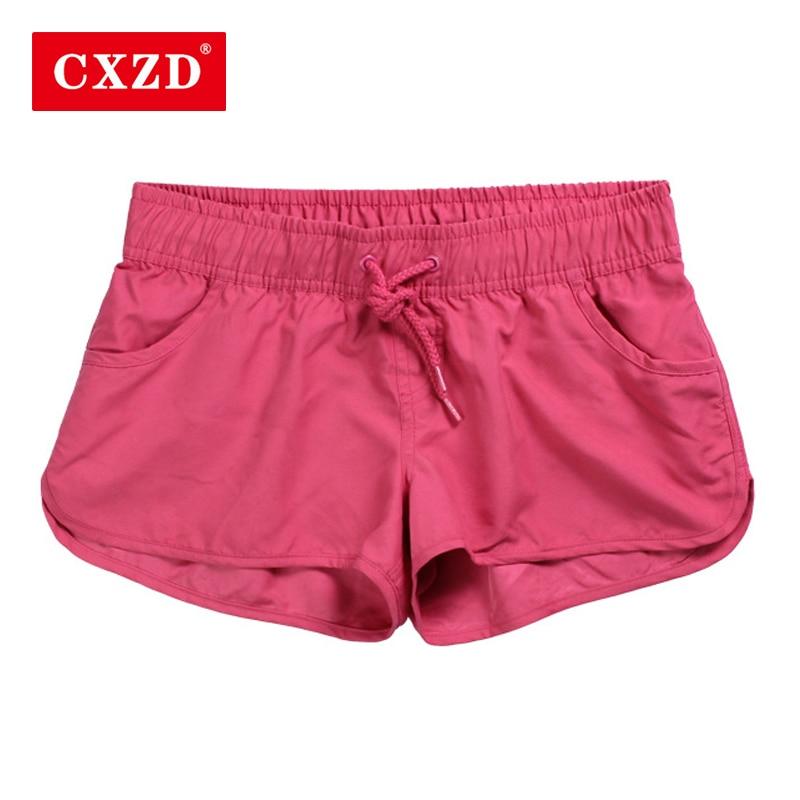 CXZD New Women Swim   Short   Solid Color Quick Dry Womens Swimming   Shorts   Beach Sportswear   Board     Shorts   Swimsuit Women's Trunks