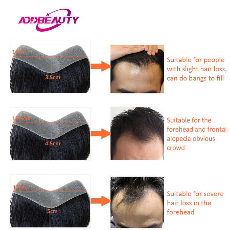 AddBeauty Dünne Haut PU 0,05-0,14mm V Schleife Herren Toupet Perücke Indische Menschliche Remy Haar Ersatz Systeme 6 zoll Handgemachte Haarteile