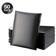 50 pçs embalagem envio bolha mailers envelopes acolchoados forrado poli mailer auto selo preto saco de presente bolha mailing envelope saco