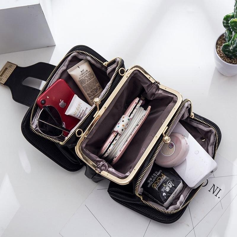 Women Bag Chain Crossbody Shoulder Bag Mini Women Phone Pocket Chain PU Faux Leather Handbag Small Messenger Bags Clutch 2019