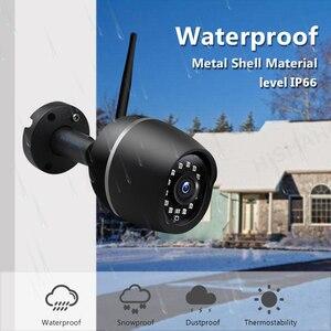 Image 2 - 1080P HD واي فاي كاميرا لاسلكية CCTV IP كاميرا معدنية في الهواء الطلق مراقبة الأمن الأشعة تحت الحمراء للرؤية الليلية اتجاهين الصوت P2P