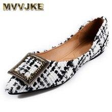 Boat Shoes Flats Women Pointed-Toe Office Fashion Ladies Brand 10 MVVJKE Elegant Plus-Size