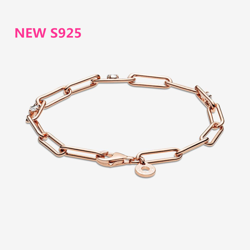 2020 new rose gold link bracelet series is suitable for Pand Bracelet Sterling Silver S925 original classic women jewelry fas