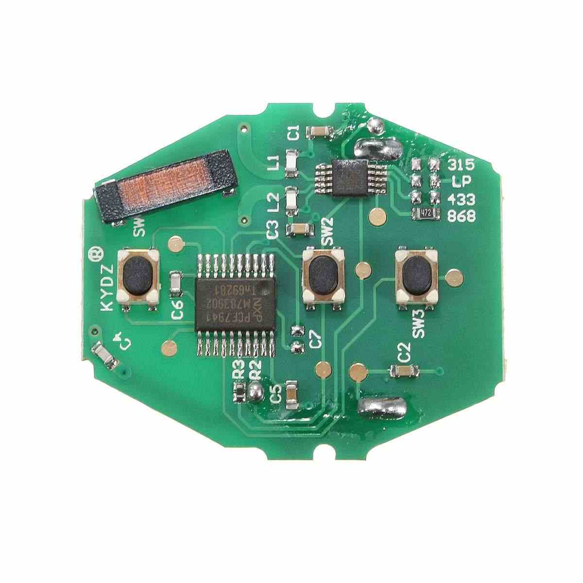 Panas 1 Pcs 3 Tombol Uncut Remote Kunci Fob 868MHz ID7944 untuk BMW CAS2 3/5/7 Series E46 e60 E83 E53 E36 E38 E39 HU92 Bagian Pengganti