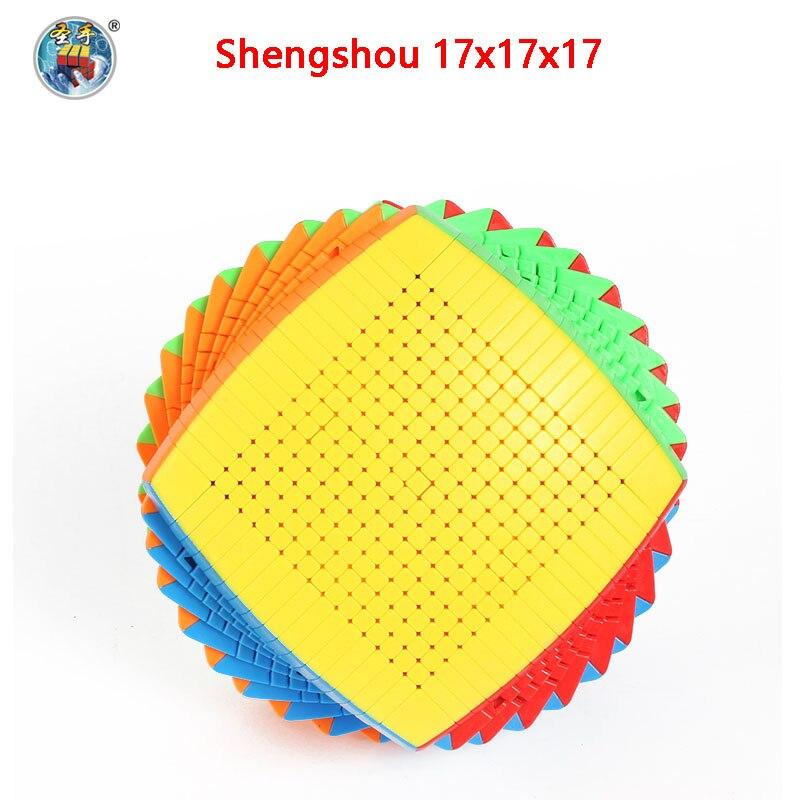 Оригинал высокого уровня Shengshou 17x17x17 Cubo 123 мм магический скоростной куб головоломка твист 17x17 Cubo Magico Обучающие Развивающие игрушки