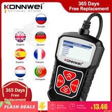 KONNWEI KW310 OBD2 الماسح للسيارات OBD 2 ماسح الرادار الخاص بالسيارة أداة تشخيص السيارات الماسح الضوئي أدوات السيارات اللغة الروسية PK Elm327