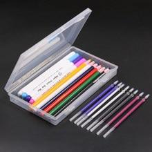 21 pçs caneta marcador de tecido kits caneta apagável de calor & marcador temporário caneta apagável de água & costura giz diy acessórios de alfaiataria