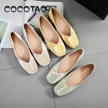 Pouring Shoes 2019 New Square Summer Evening Net Red Soft Flat-bottomed Fairy Bean Joker25
