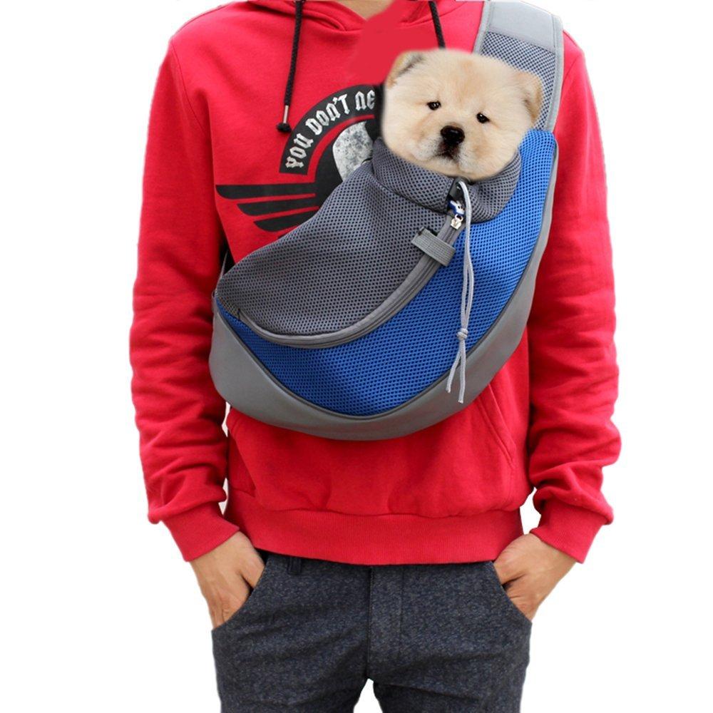 19 Pet Carrier Bag Puppy Dog Outdoor Travel Sling Shoulder Bag Comfortable Mesh Oxford Backpack Front Bags S/L 4