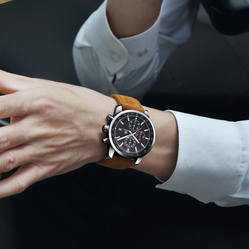 BENYAR zegarki mężczyźni luksusowej marki zegarek kwarcowy moda chronograf Reloj Hombre zegarek sportowy mężczyzna godzina Relogio Masculino 2