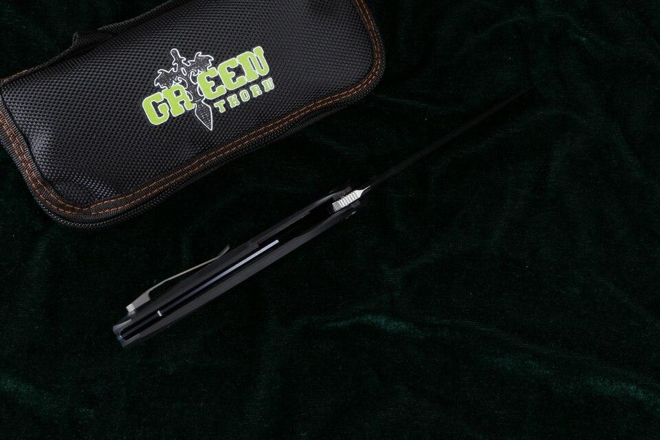 Зеленый шип SIGMA mrbs D2 лезвие G10 стальная ручка Открытый Отдых Охота Карманный кухонный фруктовый практичный Складной Нож EDC инструменты - 4