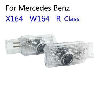 2X luces LED de luz de bienvenida para puerta con logotipo de proyección de sombra fantasma para Mercedes Benz W251 Clase R W164 ML X164 GL R350 R300 ML350
