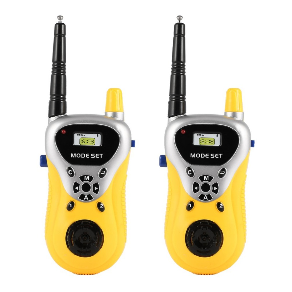 2 Pcs Mini Walkie Talkie Kids Radio Handheld Toys For Children Gift Portable Electronic Two-Way Radio Communicator
