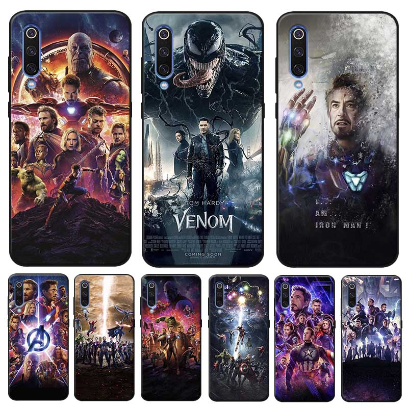 Captain America Iron Man Avengers Cover for samsung galaxy a50 a70 a30 a40 a20 s8 s9 s10 plus Clear Soft Silicone Phone Case in Half wrapped Cases from Cellphones Telecommunications