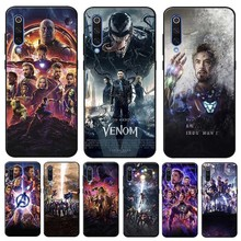 Captain America Iron Man Avengers Cover for xiaomi  mi 9 9t se 8 pocophone f1 mix 3 Clear Soft Silicone Phone Case