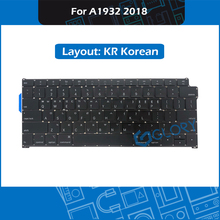 New A1932 Keyboard KR Korean Layout For Macbook Air 13.3″ Late 2018 Korea Keyboard Replacement MRE82 EMC 3184