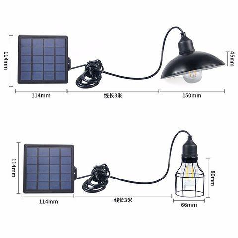 lustre de luz solar com controle remoto retro abajur solar lampada led 3 metro cabo