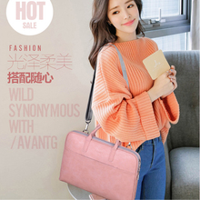 PU Waterproof Shockproof Shoulder Laptop Bags Briefcase 15.6 17.3 inch Handbag For Macbook Air Case 13 14 15 17 Fashion Women