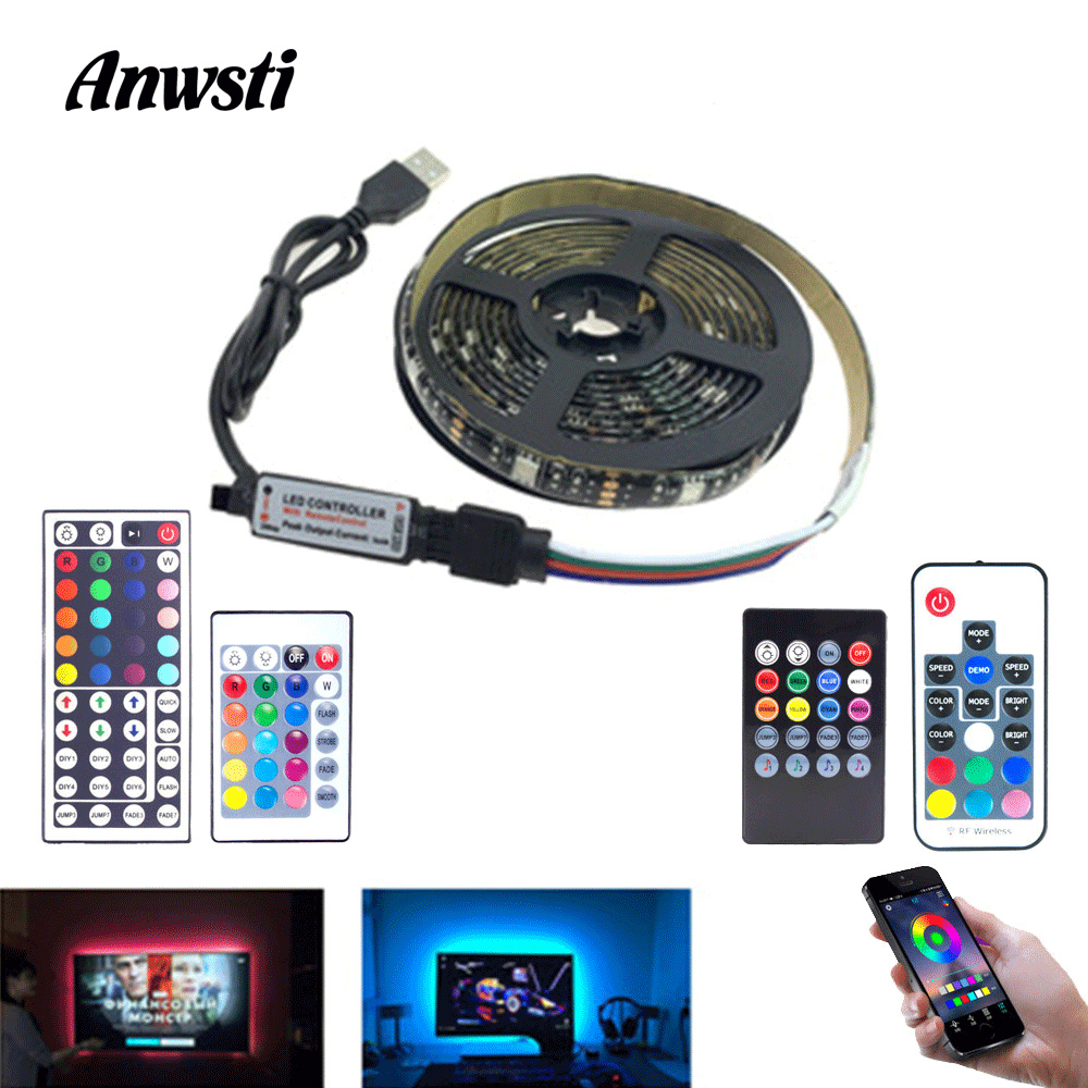 USB LED Stripe RGB SMD 5050 5V Waterproof Music Bluetooth LED Strip Light Fita Tira USB Tape Ribbon TV Backlight Flex Lighting