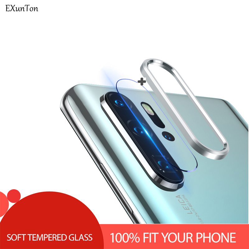 100% Fit Camera Lens Soft Screen Protector For Huawei P30 Pro Lite Tempered Glass Back Aluminum Protective Ring For P30 Pro Lite