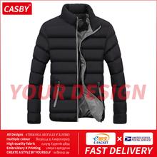 Nowy ręcznie wykonany nadruk kurtka zimowa mężczyźni gruba ciepła kurtka szczupła na co dzień męska bluza z kapturem kurtka typu Parka mężczyźni bawełna gruba Parka kurtka typu Parka M-6XL tanie tanio Casby-create CN (pochodzenie) COTTON Poliester spandex REGULAR STANDARD 1316-5513 Suknem zipper NONE Kieszenie Stałe 500g