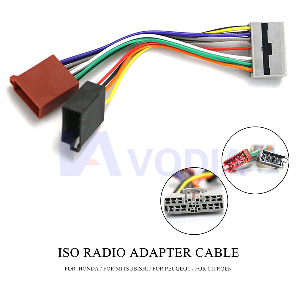 12 111 ISO Radio Adapter for HONDA for MITSUBISHI for PEUGEOT for CITROEN  Wiring Harness Connector Lead Loom Cable Plug|Cables, Adapters & Sockets| -  AliExpress | Citroen Wiring Harness |  | AliExpress