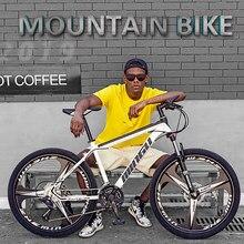 Bicicleta 21/24/27/30 velocidade mountain bike racing 24/26 Polegada acessórios da bicicleta de estrada frente e traseira mecânica disco duplo brakesunisex