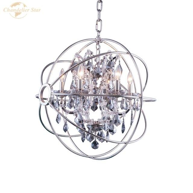 Хрустальные люстры в скандинавском стиле Современная сферическая