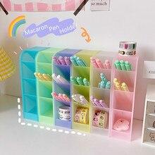 Pen-Holder Storage-Box Insertion Pencil Makeup-Brush Desktop-Organizer School-Stationery