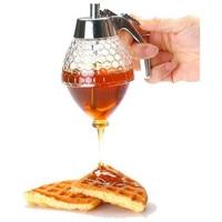 1PC Squeeze Bottle Honey Jar Container Bee Drip Dispenser Kettle Storage Pot Stand Holder Juice Syrup Cup Kitchen Accessories Squeeze Bottles Home & Garden -