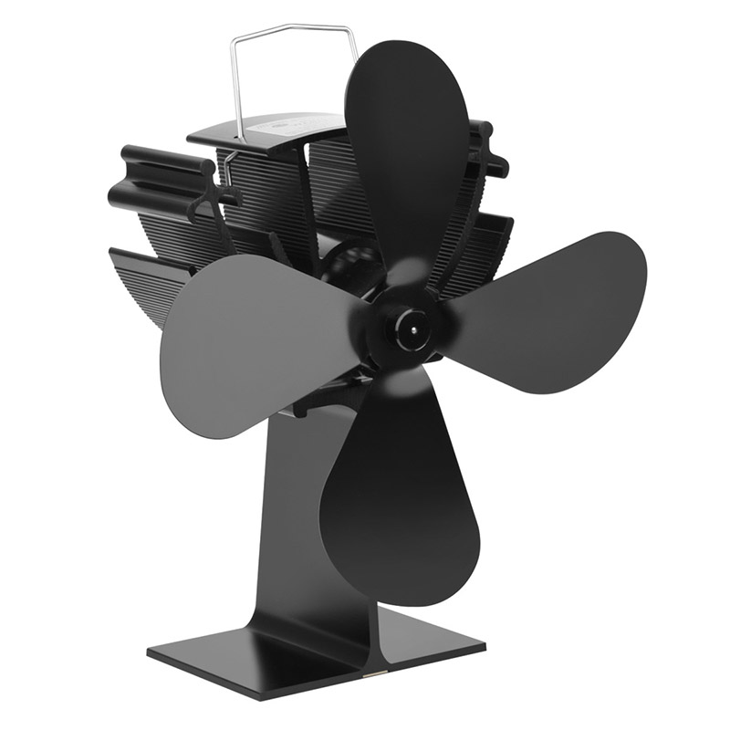 Rantion Heat Powered Stove Fan Thermo-Motive Digital Display Wood Burner Eco Friendly Quiet Fan Home Efficient Heat Distribution