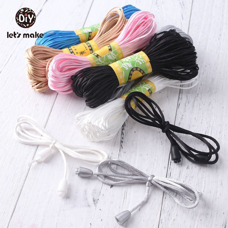 Let'S Make 20M Nylon Cord Pacifier Clips Teething Jewelry Accessories Diy Pacifier Chain Teether Necklace Tools Safety Material