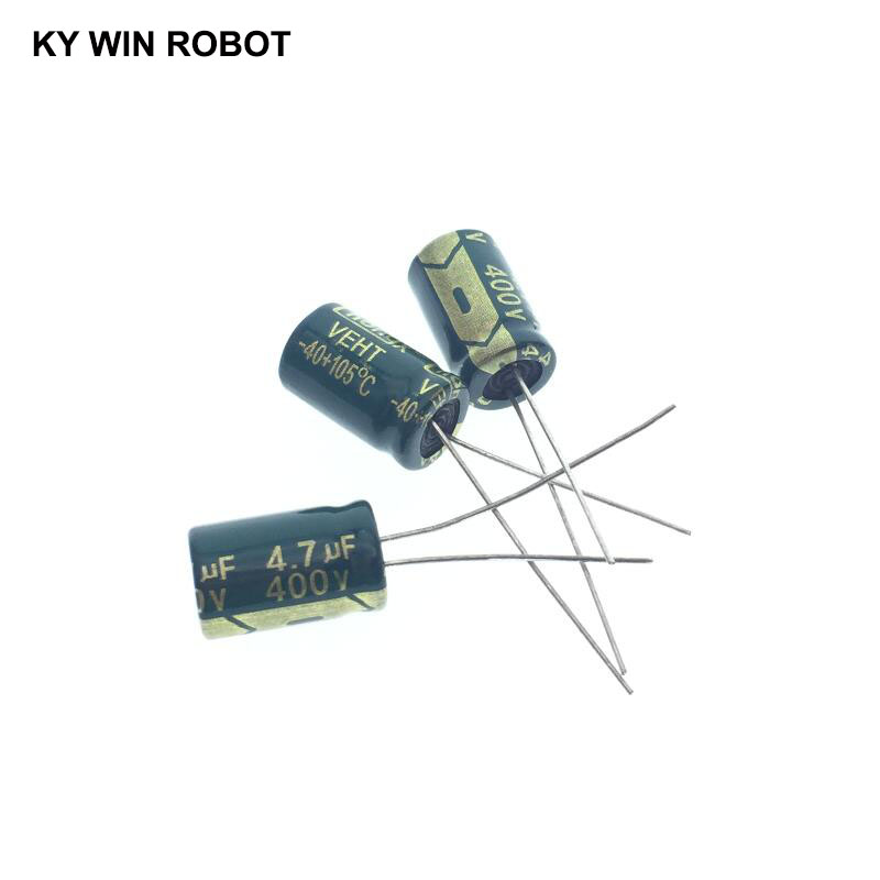 20pcs Electrolytic Capacitors 4.7UF 400V 8x12mm 105C Radial High-frequency Low Resistance Electrolytic Capacitor