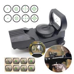 Riflescope ferroviário caça óptica holográfica red dot sight 4 retículo reflex tactical scope brinquedo arma acessórios 20mm dropsip