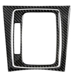 Dekoracja do wnętrza samochodu odlewnictwo centralny panel sterowania kalkomanie z włókna węglowego dla Mercedes W204 C klasa 07 13 akcesoria w Naklejki samochodowe od Samochody i motocykle na