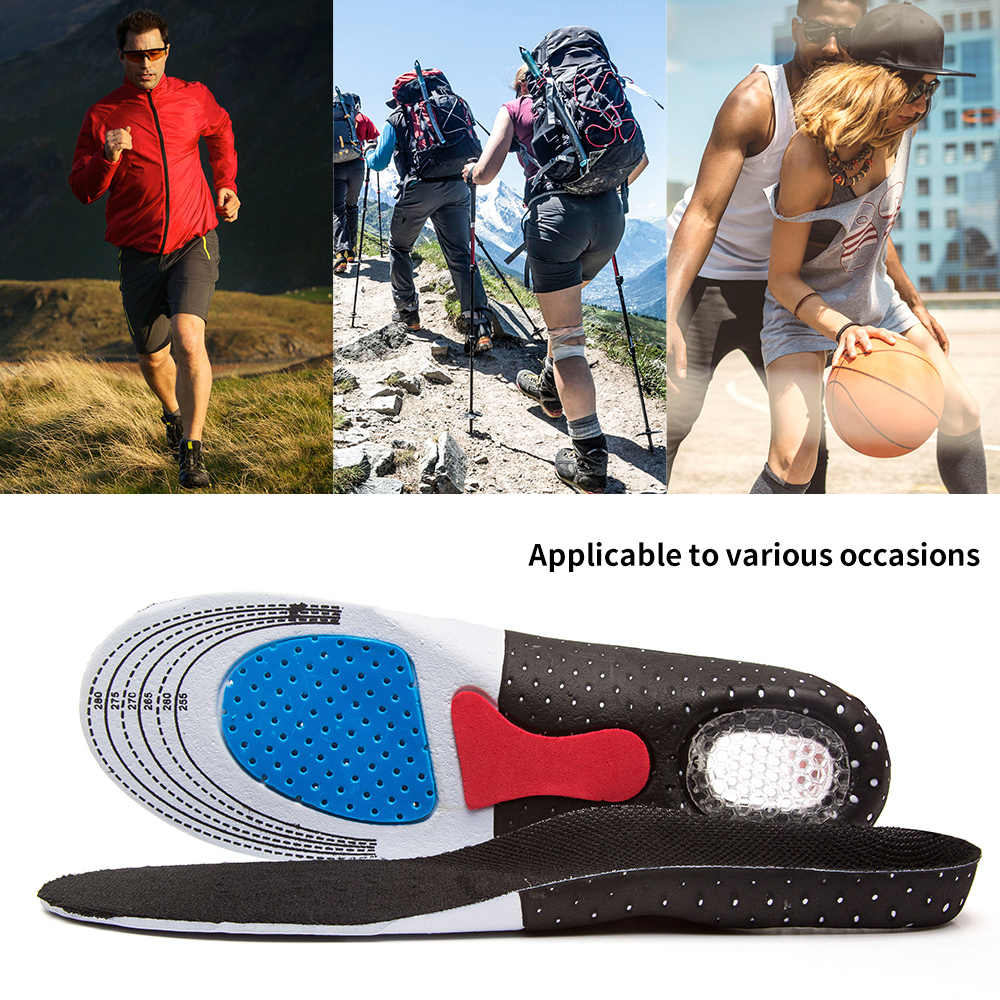 Mannen & Vrouwen Mode Silicagel Inlegzolen Orthopedische High Arch Ondersteuning Sport Loopschoenen Inlegzolen (35-46) unsishoe Binnenzool