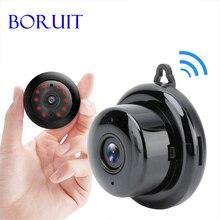 BORUIT WIFI Mini kamera IP 1080P kablosuz bebek izleme monitörü akıllı ev Cam gece görüş hareket algılama SD kart yuvası ses APP