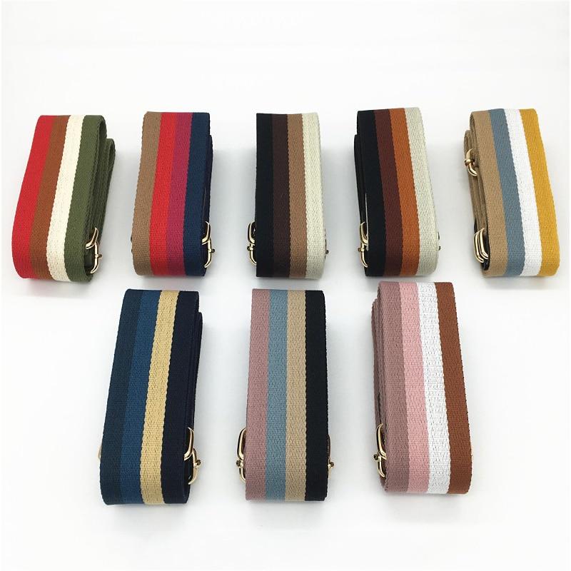 Nylon Bag Strap Colorful Stripe Handbags Wide Strap Bag Accessories DIY Purse Replacement Handles Adjustable Belt For Bag 120cm
