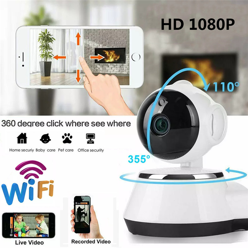 360 Degree 1080P Home Security IP Camera HD Mini Network Surveillance Cameras Baby Monitor Remote Control USB Interface
