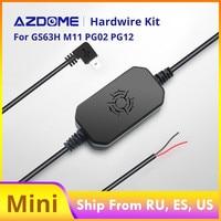 AZDOME 12/24V zu 5V Mini USB Hardwire Kit DVR Power Adapter Kabel für M11 M06 GS63H PG01 PG02 Dash Cam Niedrigen Spannung Schutz
