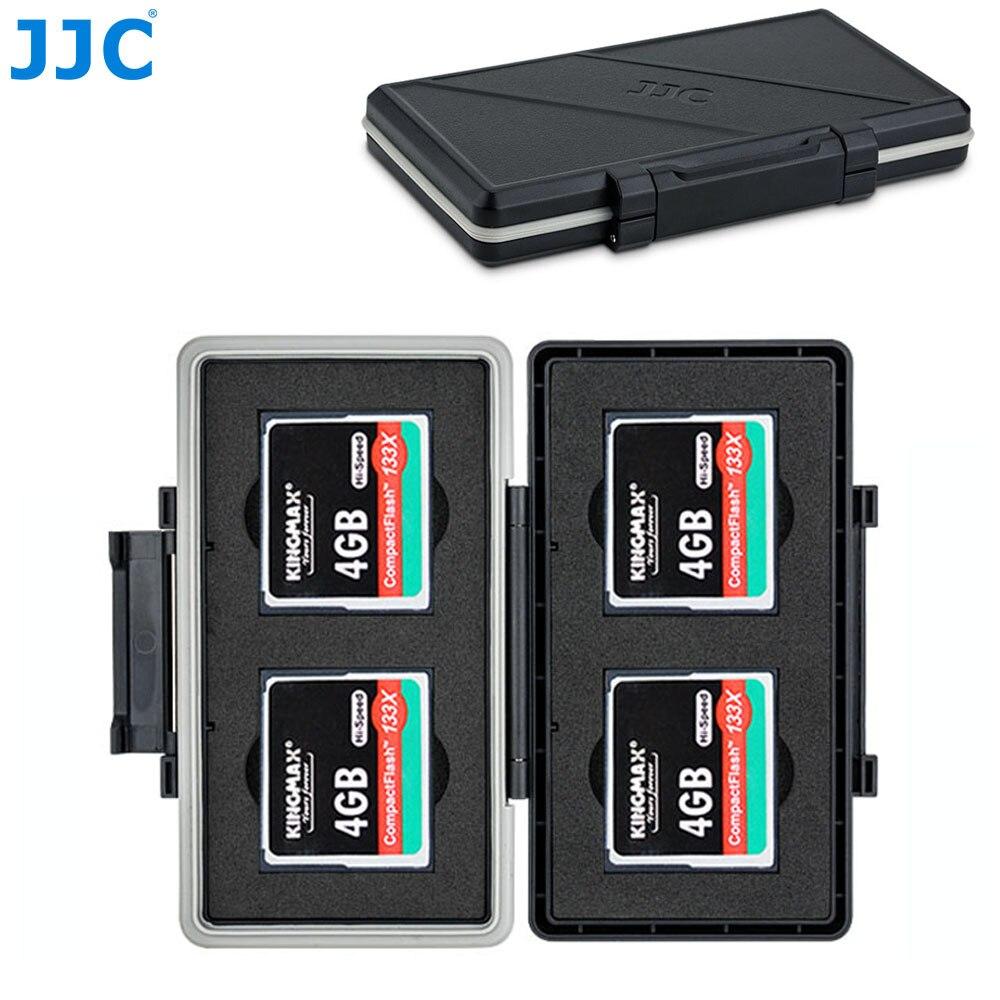 JJC 4 Slots CF Card Holder Case Box Compact Flash Memory Card Storage For Canon 5DM4 5DM3 5DM2 5D 5DS R 7DM2 7D 1DC 1DX 1DS 1D
