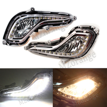 цена на Daytime Running Light Fog Light For Hyundai Accent Solaris Verna 2010 2011 2012 LED 15W Car External Light Source DRL Xenon Lamp