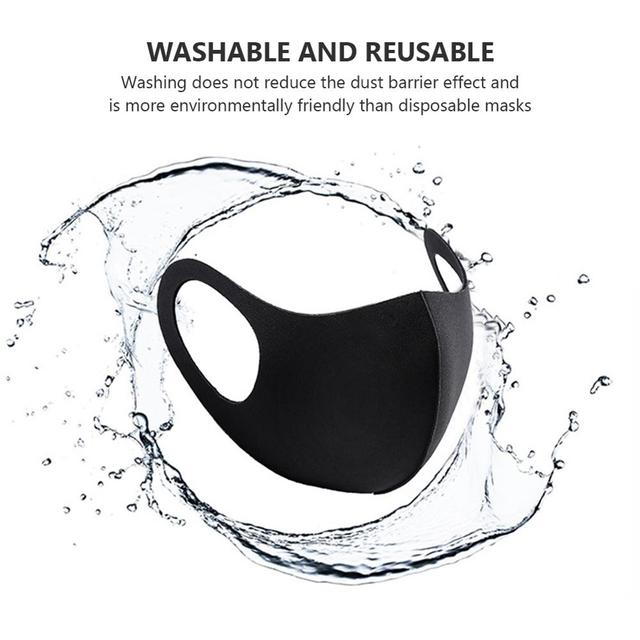 1Pcs Black Mouth Mask Reusable Dust Mask Washable Mascarillas Face Shield Masque Foggy Haze Mask Mundschutz Unisex 1