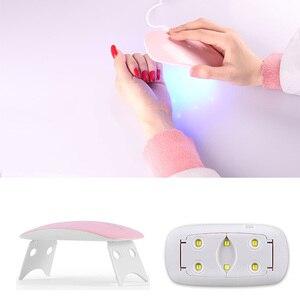 Image 3 - Portable UV Nail Lamp 6W Sun Mini UV Lamp Gel Nail Polish Dryer Mouse Shape LED Nail Lamp