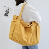 2019 Women Bags Korean Canvas Cotton Female Handbags Shoulder Bag Ladies Handbags Casual Canvas Tote Bag Beach Bag Whole Sale