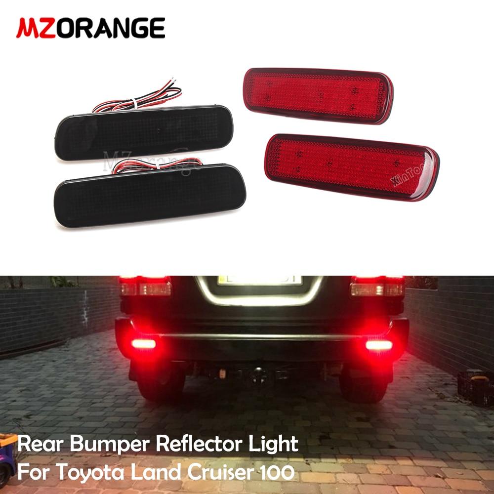 MZORANGE автомобиля светодиодный задний бампер отражатель светильник для Toyota Land Cruiser 100/Cygnus LX470 светодиодный Предупреждение светильник фонарь с...