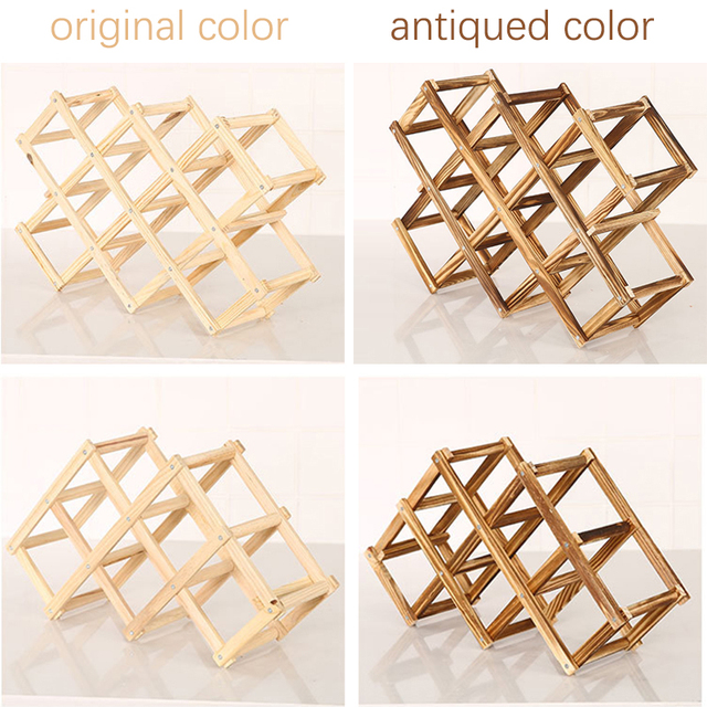 Collapsible Wooden Wine Rack 6