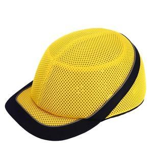 Image 5 - Tampão de colisão anti impacto capacetes de pouco peso capacete de segurança de trabalho de proteção com listras reflexivas respirável chapéu de segurança 4 cores
